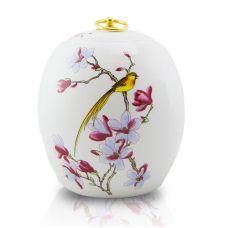 Golden Bird Ceramic Urn - Adult