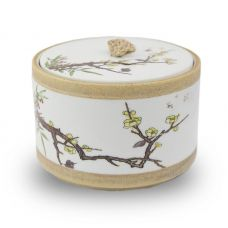 Yellow Cherry Blossoms Pet Ceramic Urn
