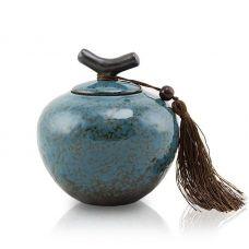 Small Ceramic Pet Urn - Turquoise