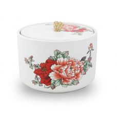 Red Peony Pet Ceramic Urn