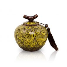 Autumn Yellow Ceramic Keepsake Urn