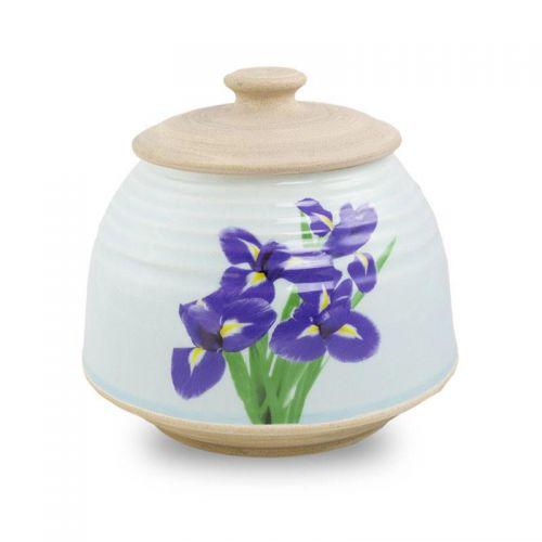 Large Ceramic Cremation Urn - Iris Bouquet -  - CT-IRISL