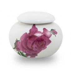 Extra Small Ceramic Cremation Urn Keepsake - Rose