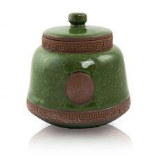 Emerald Ceramic Pet Urn - Small