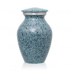 Two-Tone Light Blue Classic Cremation Urn - Keepsake