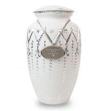 Garland Drop Cremation Urn - White