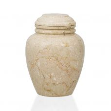 Alluvium Marble Pet Cremation Urn - Extra Small