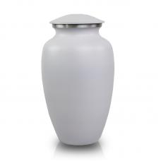 White Classic Cremation Urn