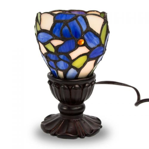 Blue Iris Stained Glass Memory Lamp -  - KL-1002G