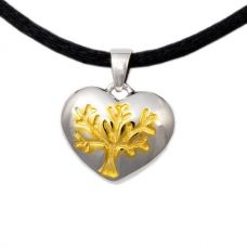 Tree of Life Heart Cremation Pendant - Sterling Silver