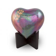 Arielle Heart Pet Urn - Raku