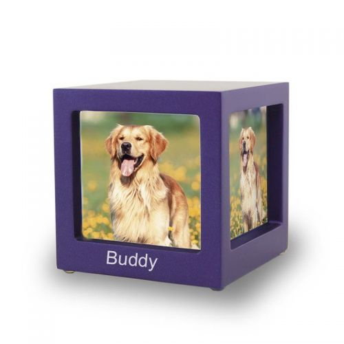 Violet Photo Cube Cremation Urn - Extra Small -  - CMPC15-25