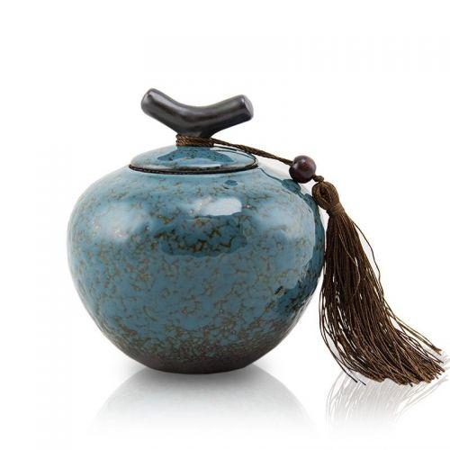 Turquoise Ceramic Cremation Urn - Extra Small -  - CT-7CM