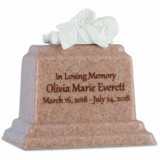 Peaceful Rest Baby Girl Urn