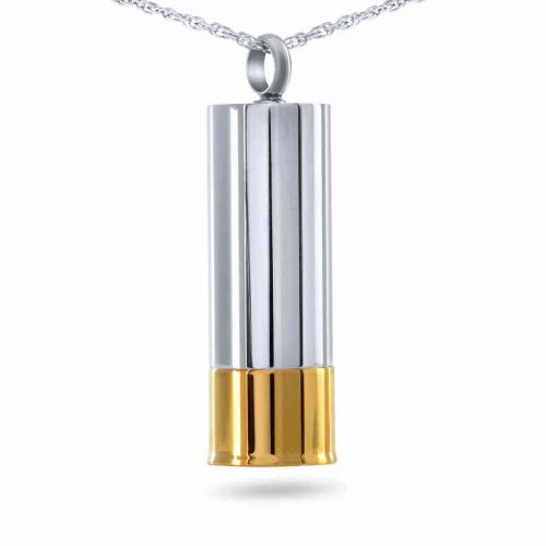 12 Gauge Keepsake Cremation Chamber Jewelry Necklace -  - 9790