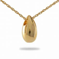 14K Tear Gold Keepsake Cremation Chamber Jewelry Necklace
