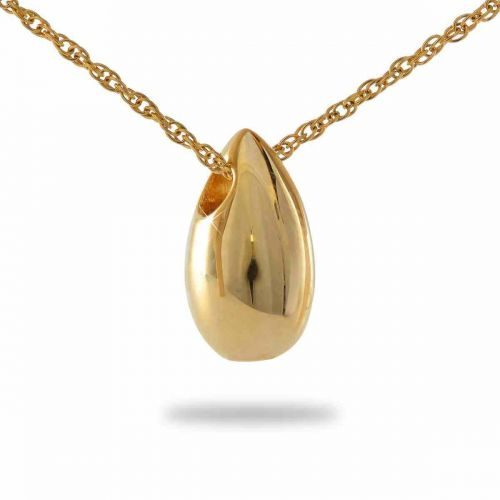 14K Tear Gold Keepsake Cremation Chamber Jewelry Necklace -  - 78017