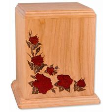 Inlay Roses Cherry Urn