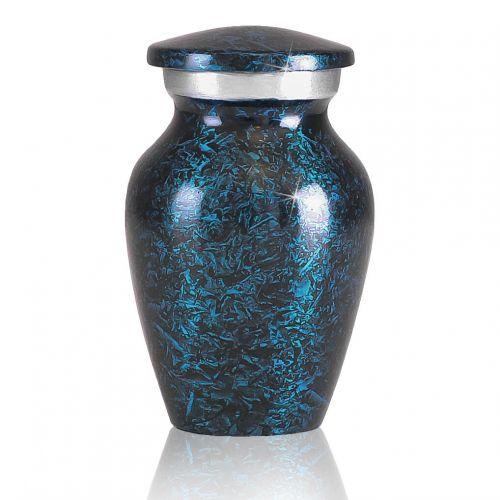 Sky Blue Marbled Pewter Keepsake -  - 22734