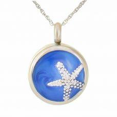 Star Blue Pendant Urn