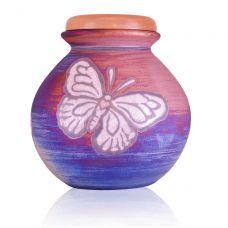 Butterfly Raku Urn