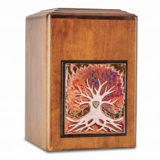 Raku Wood Tree Cremation Urn