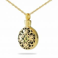 Spring Floral Gold Pendant