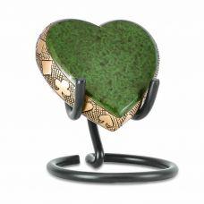 Green Poker Brass Heart Keepsake