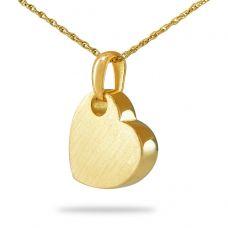 Cherished Heart Steel Gold Keepsake