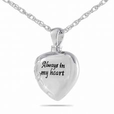 Always Silver Keepsake Cremation Chamber Jewelry Necklace