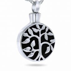 Ancestral Tree Radiant Keepsake Cremation Chamber Jewelry Necklace