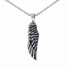 Angel's Wing Keepsake Cremation Chamber Jewelry Necklace