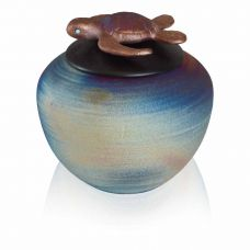 Baby Turtle Raku Keepsake Cremation Urn