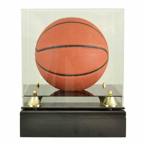 Wood Cremation Urns Basketball Glass Display Cremation
