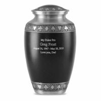 Black Poker Brass Cremation Urn
