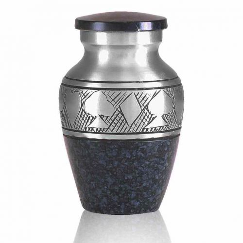 Black Poker Brass Keepsake Cremation Urn -  - 60081