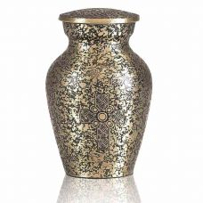Brass Celtic Cross Keepsake Cremation Urn
