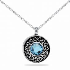 Celestial Crystal Pendant Cremation Chamber Jewelry Necklace