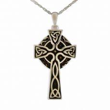 Celtic Cross Pendant Steel Keepsake Urn