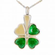Celtic Shamrock Keepsake Cremation Chamber Jewelry Necklace