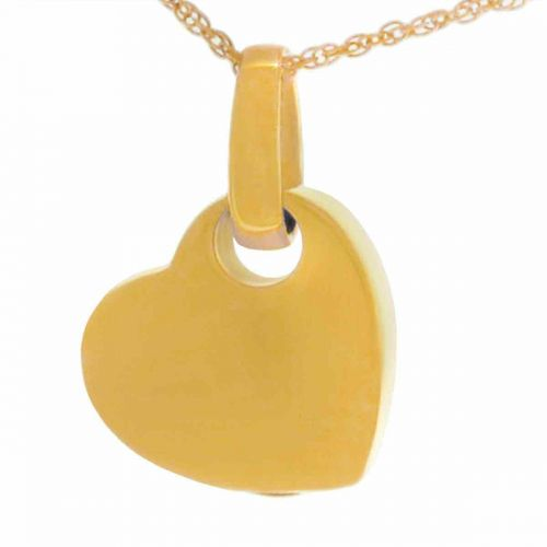 Cherished Heart Gold Keepsake Cremation Jewelry Necklace -  - 71812