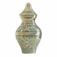 Classic Garden Blue Keepsake Cremation Urn