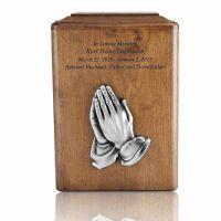 Copper Hands In Prayer Cremation Urn