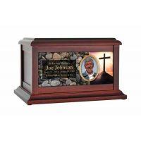 Crucifix Faith Life Treasured Urn