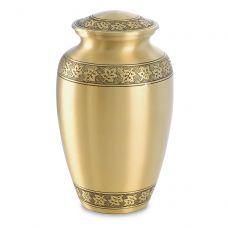 Maple Leaf Brass Urn