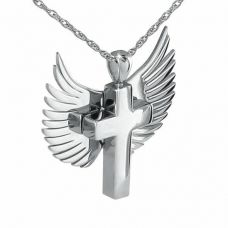 Angel Wings with Cross Keepsake