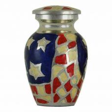 American Flag Keepsake Urn