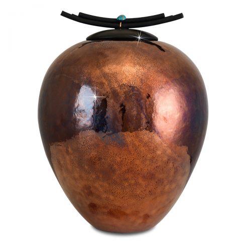 Elegant Raku Cremation Urn -  - 33107