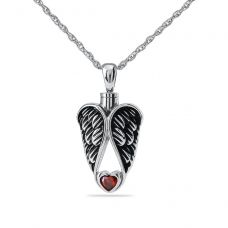 Angle Wings Cremation Pendant