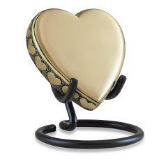 Loving Heart Brass Keepsake